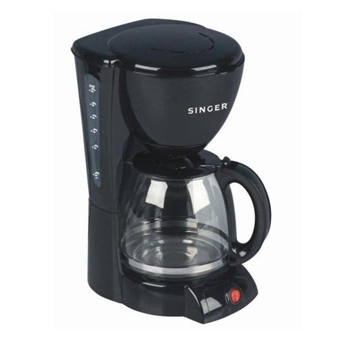 Ръчна шварц кафемашина Singer SFC 610 BK, 1000W, функция Aroma, посточнен филтър, защита от прегряване, черна  image