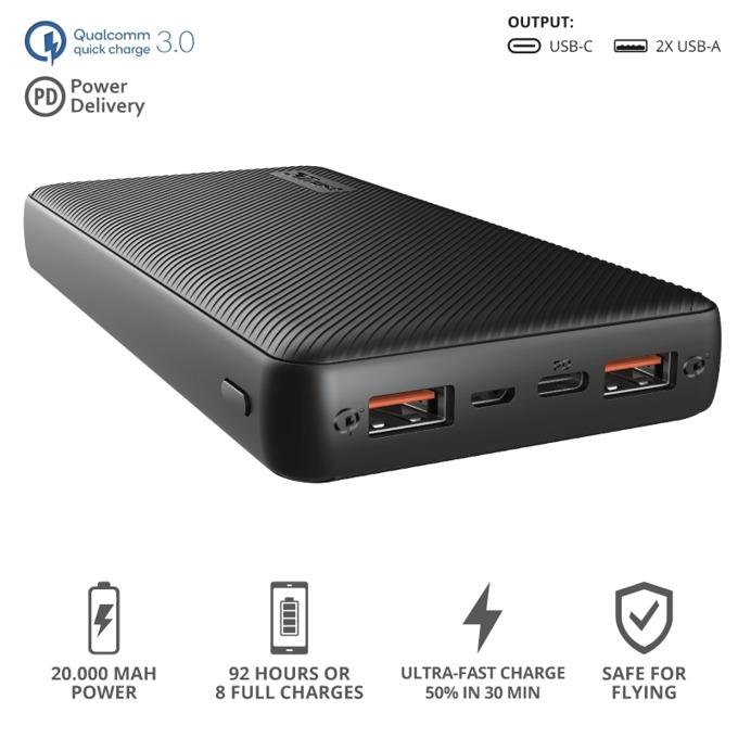 TRUST Primo Ultra-Fast Powerbank 20000 mAh