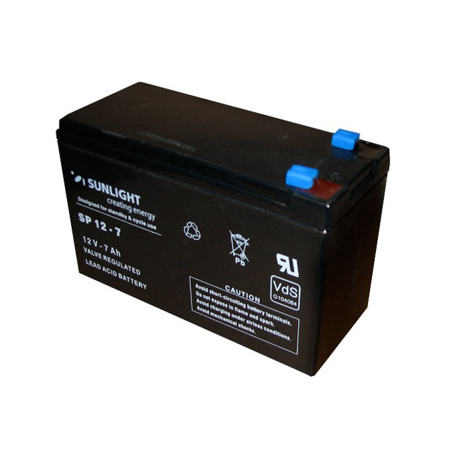 Акумулаторна батерия, Sunlight VRLA, 12V, 7Ah image
