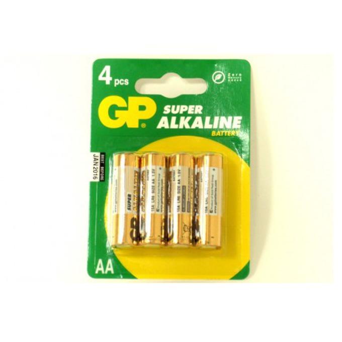 Батерии алкални GP Super AA, 1.5V, 4 бр.  image