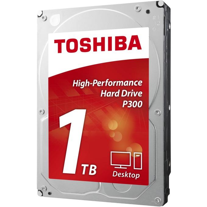 """Твърд диск 1TB Toshiba P300 - High-Performance Hard Drive, SATA 6Gb/s, 7200rpm, 64MB, 3.5""""(8.89 cm), с опаковка (Bulk) image"""