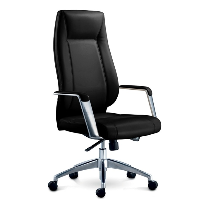 Директорски стол RFG VINCI HB, екокожа, черен image