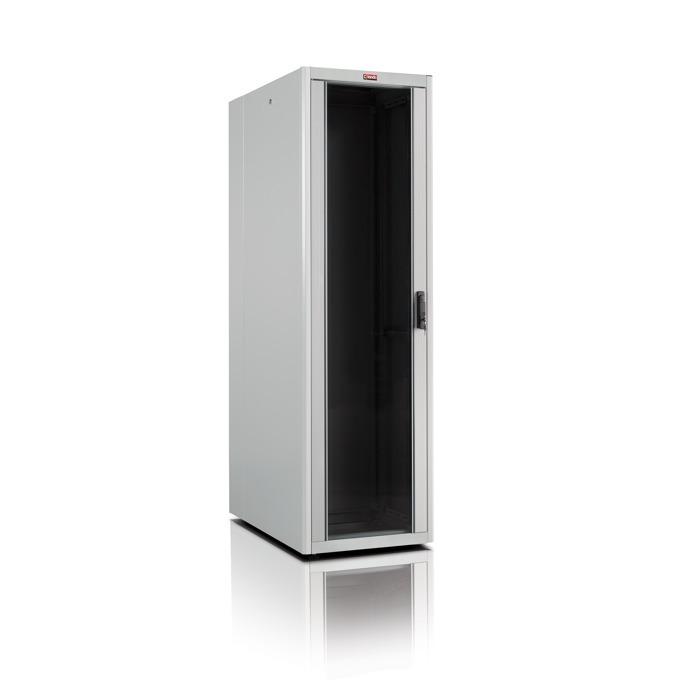 """Комуникационен шкаф Lande LN-DB42U8010-LG-111-F, 19"""", 42U, 800 x 1000 мм, сив image"""