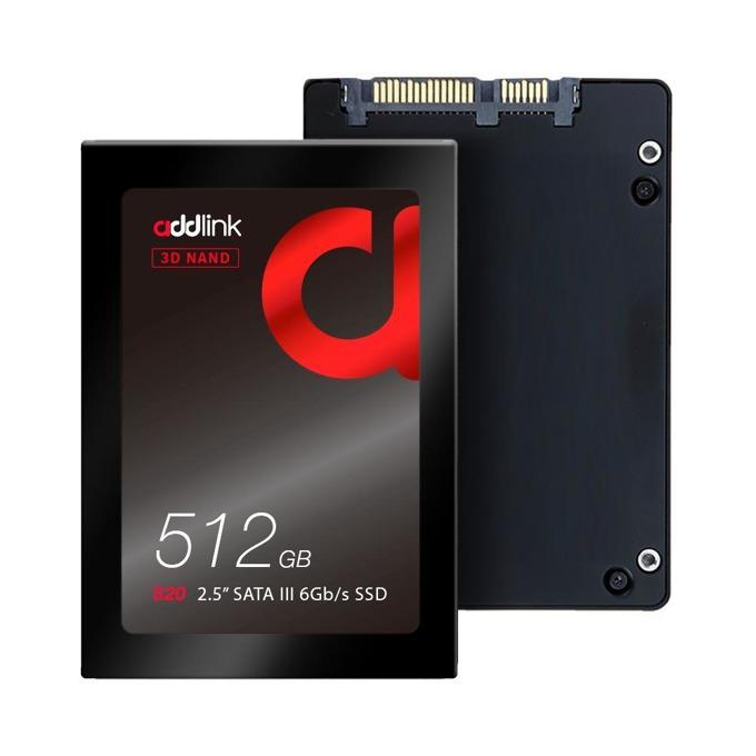 """Памет SSD 512GB Addlink S20, SATA 6 Gb/s, 2.5"""" (6.35cm), скорост на четене 550 MB/s, скорост на запис 500 MB/s image"""