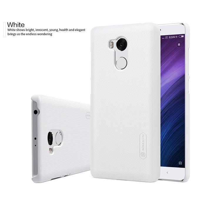 Страничен протектор с гръб Nillking за Xiaomi Redmi 4 Prime/Pro, абсорбира удари, нечуплив, издържа на надраскване, бял image