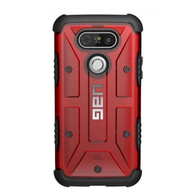 Поликарбонатов Протектор Urban Armor Gear Scout, удароустойчив, за LG G5, червен image