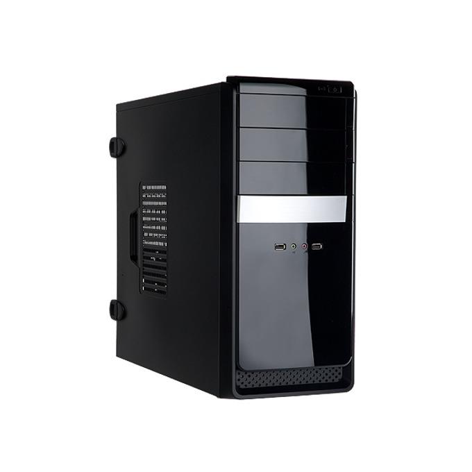 Кутия In Win EA034, ATX/Micro ATX, 2x USB 2.0, черна, 400W захранване image
