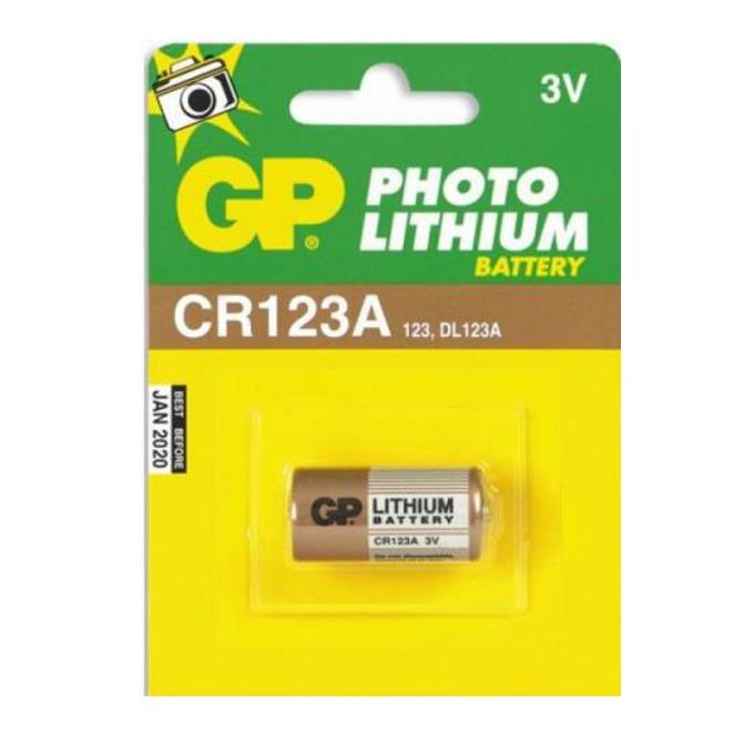 Батерия литиева GP CR123, 3V, 1 бр.  image