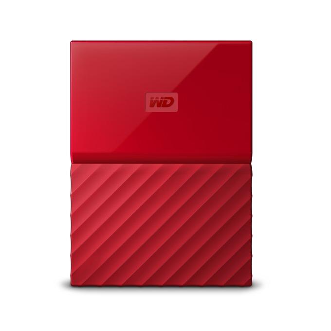 """1TB WD My Passport (червен), Външен, 2.5""""(6.35cm), USB 3.0 image"""