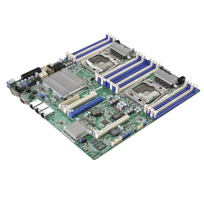 Дънна платка за сървър ASRock Rack EP2C612D16NM-2T8R, 2x LGA2011 R3, поддържа DDR4 LRDIMM/RDIMM, 2x LAN1000, 1x IPMI LAN port, 10x SATA3 6.0Gb/s(RAID 0/1/5/10), 2x USB 3.0, SSI EEB image