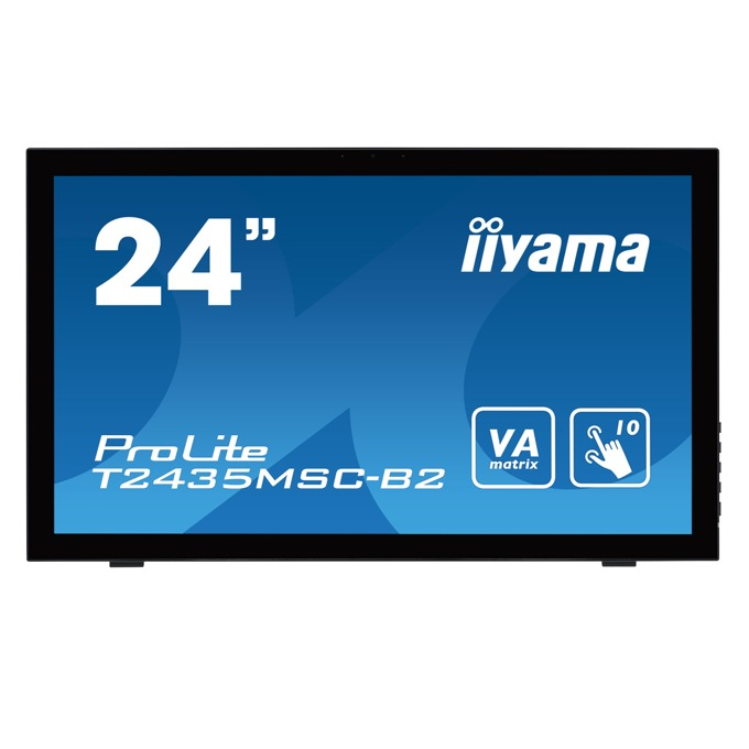 """Монитор IIYAMA T2435MSC-B2, 23.6""""(59.94 cm) VA LED панел,HDMI, DVI, VGA image"""