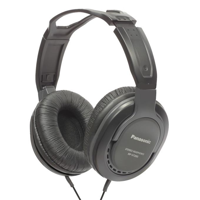 Слушалки Panasonic RP-HT265E-K, 10 - 25 000 Hz, за телевизор, 5м кабел, черни  image