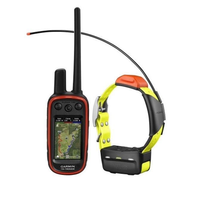 """GPS приемник и предавател Garmin Alpha 100 и T5, за дресировка и следене на кучета, до 14.5км обхват, 3.0"""" (7.62 cm) цветен LCD дисплей, microSD слот, 4GB вградена памет, IPX7 водоустойчивост, основна карта image"""