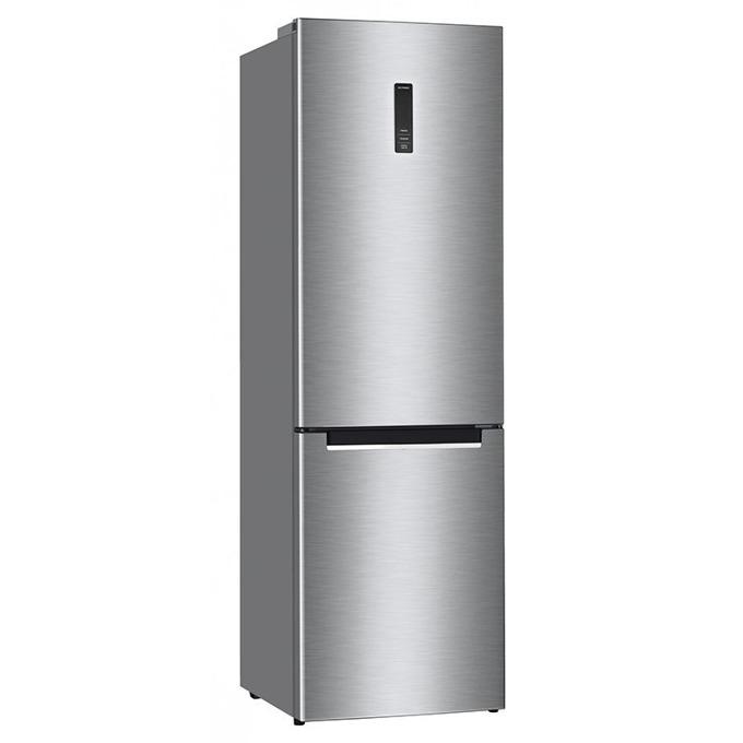 Хладилник с фризер Finlux FLN2-470A IX, клас A+, 338 л. общ обем, свободностоящ, 313 kWh/годишно, No Frost, LED осветление, електронно управление с дисплей, инокс image