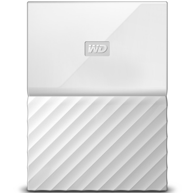 """Твърд диск 3TB Western Digital MyPassport, външен, 2.5""""(6.35cm), USB 3.0, бял image"""