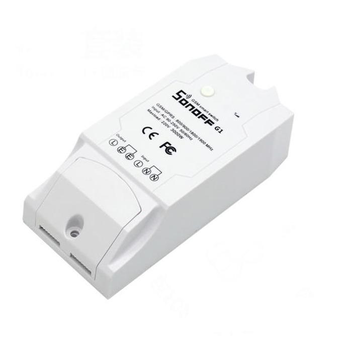 GSM прекъсвач (ключ) Sonoff G1, с управление от смартфон, бял image