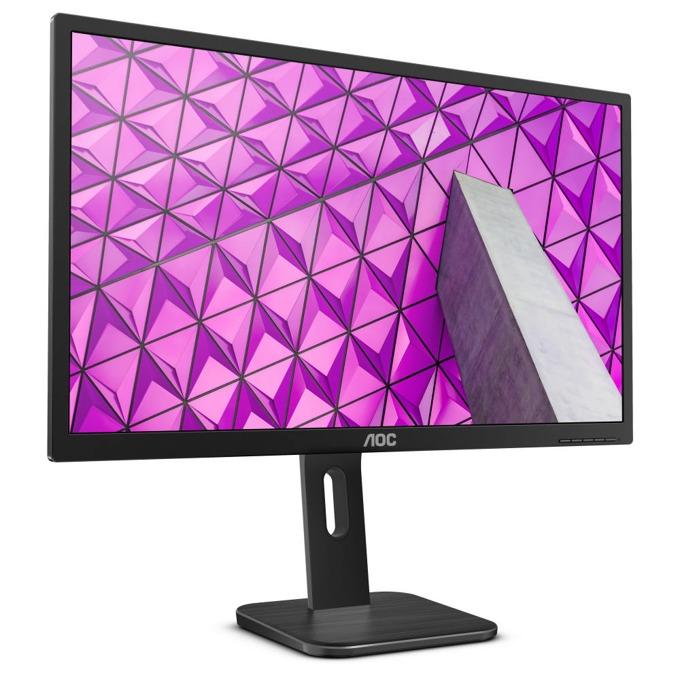 """Монитор AOC Q27P1, 27""""(68.58 cm), IPS LED панел, WQHD, 5ms, 50000000 :1, 250 cd/m2, HDMI, DVI, DisplayPort, VGA, черен image"""