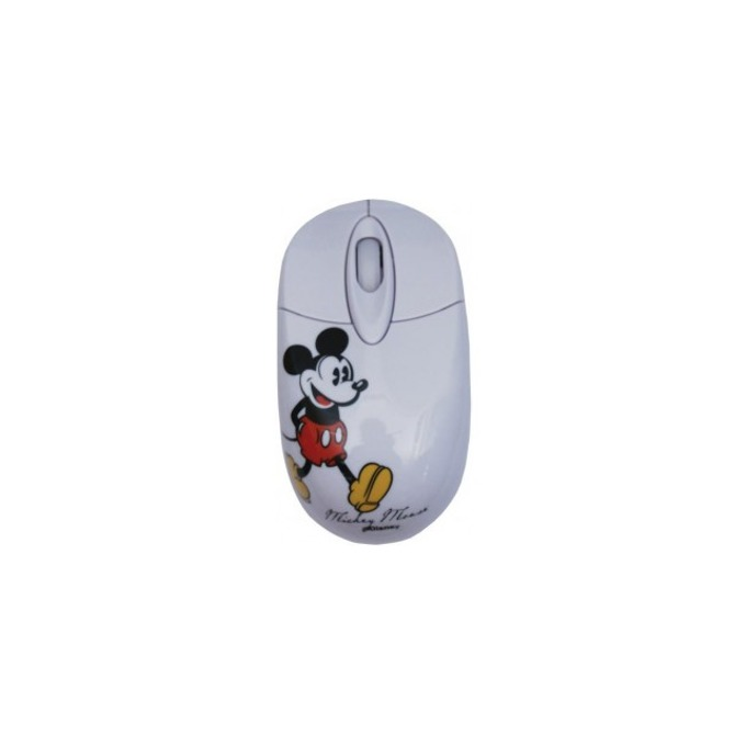 Мишка Circuit Planet Mickey Retro DSY-MO154, оптична (800 dpi), USB, бяла image