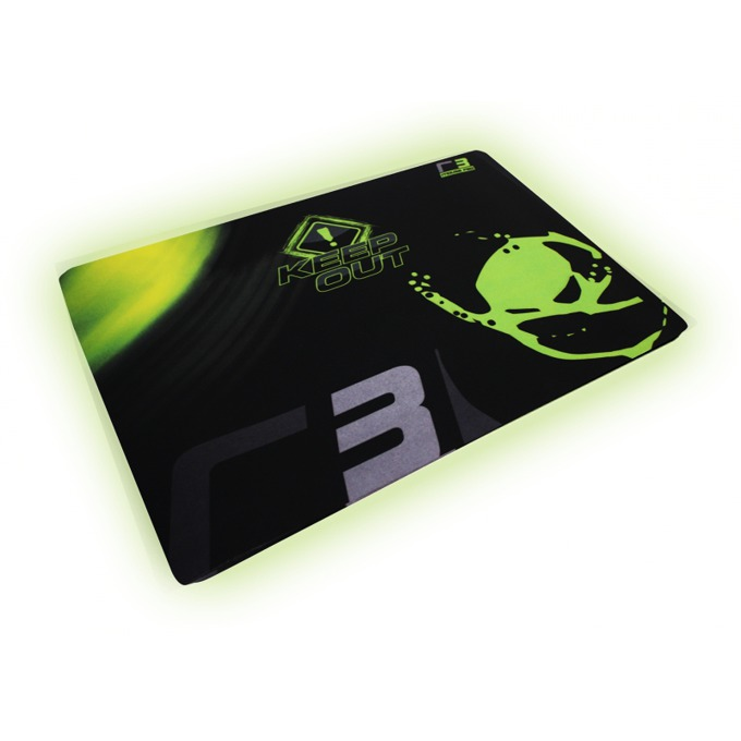 Подложка за мишка KEEPOUT R3, гейминг, черно/зелена, 400 x 320 x 3 мм image