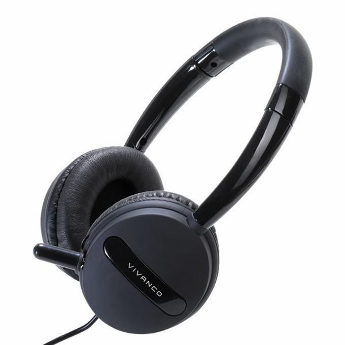 Слушалки Vivanco 36653, микрофон, 1.8m кабел, USB, черни image