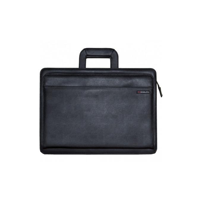 Чанта Monolith за съхранение на документи с формат фо А4, 2бр. разделители, черна image