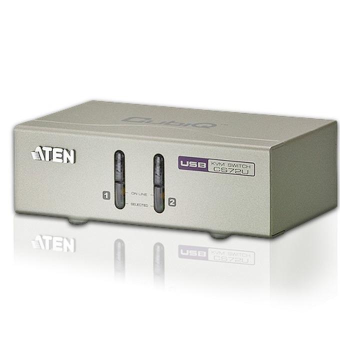 KVM суич ATEN CS72U, от 2x USB A(ж), 1x HDB-15(VGA)(ж), 2x 3.5mm jack(ж)(mic & Audio)към 2x SPHD-18(ж), 1 устройство image