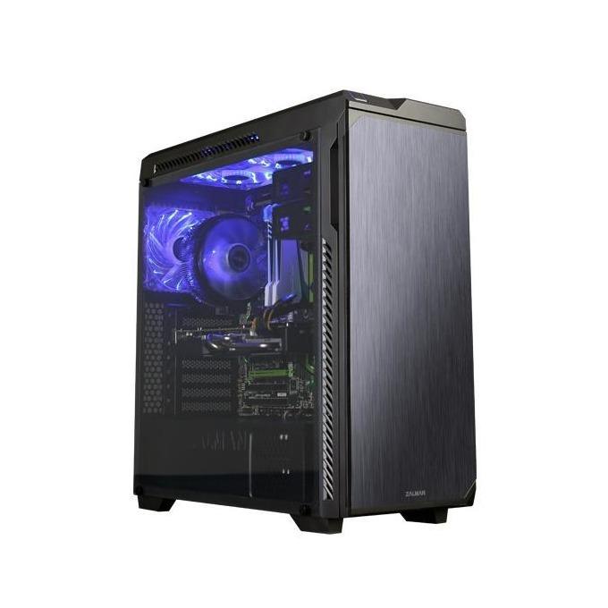 Кутия Zalman Z9 NEO Plus, ATX/mATX/miniITX, 2x USB 3.0, 2x USB 2.0, с безрамков прозорец, черна, без захранване image