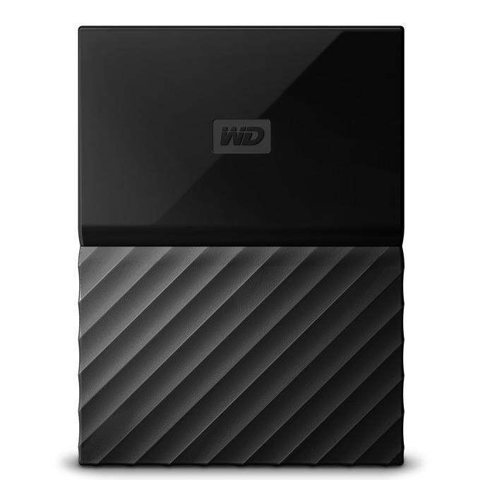 """Твърд диск 1TB WD My Passport (черен), външен, 2.5""""(6.35cm), USB 3.0 image"""