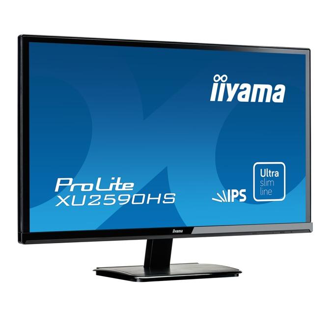 """Монитор 25"""" (63.50 cm) IIYAMA ProLite XU2590HS-B1, AH-IPS панел, Full HD LED, 5 ms, 5 000 000:1, 250 cd/m2, HDMI, DVI image"""