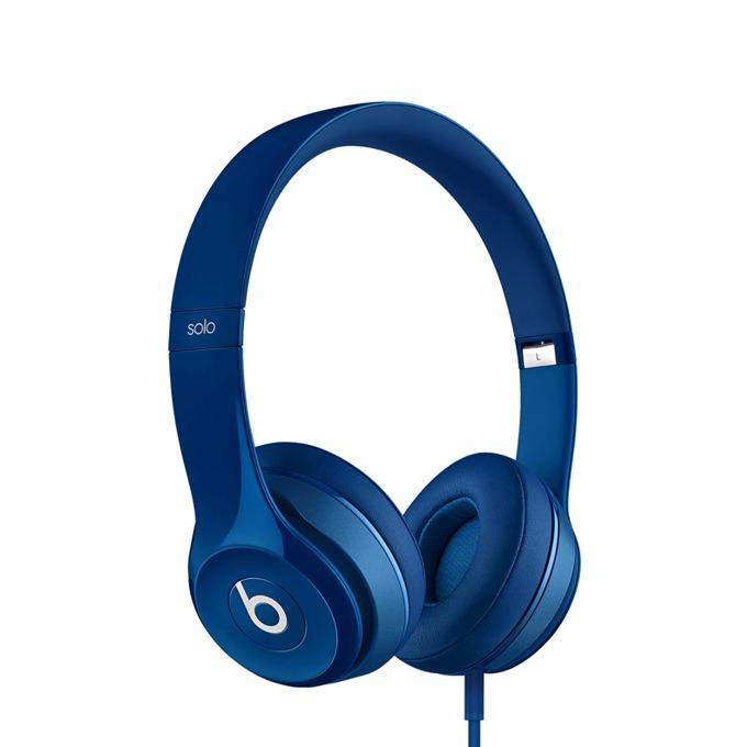 Слушалки Beats by Dre Solo HD 2.0 On Ear, сини, микрофон, сгъваеми, оптимизирани за iPhone/iPad/iPod image