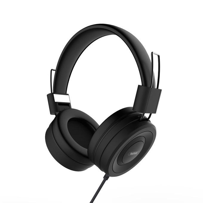 Слушалки за мобилен телефон Remax RM-805, микрофон, черни image