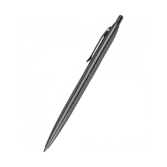Химикалка Centrum Silver Ice, син цвят на писане, 0.7 mm, сива, цената е за 1бр. (продава се в опаковка от 60 бр.) image