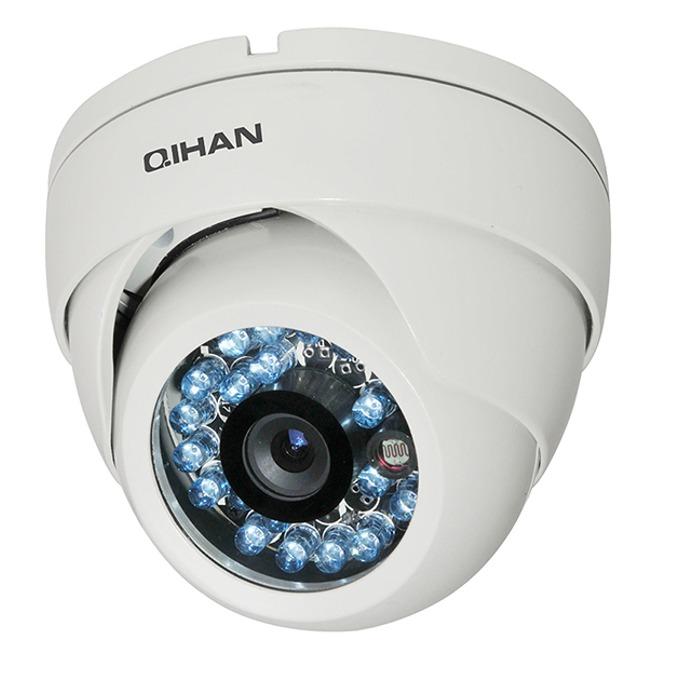 AHD камера Qihan QH-3126SC-N, куполна, 1.37Mpix 720P(1280x720@25fps), 3.6mm обектив, IR осветеност (до 20 метра) image