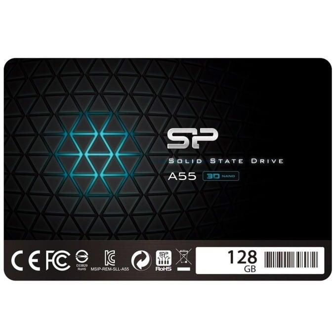 "Памет SSD 128GB Silicon Power Ace A55, SATA 6Gb/s, 2.5""(6.35 cm), скорост на четене 550MB/s, скорост на запис 420MB/s image"