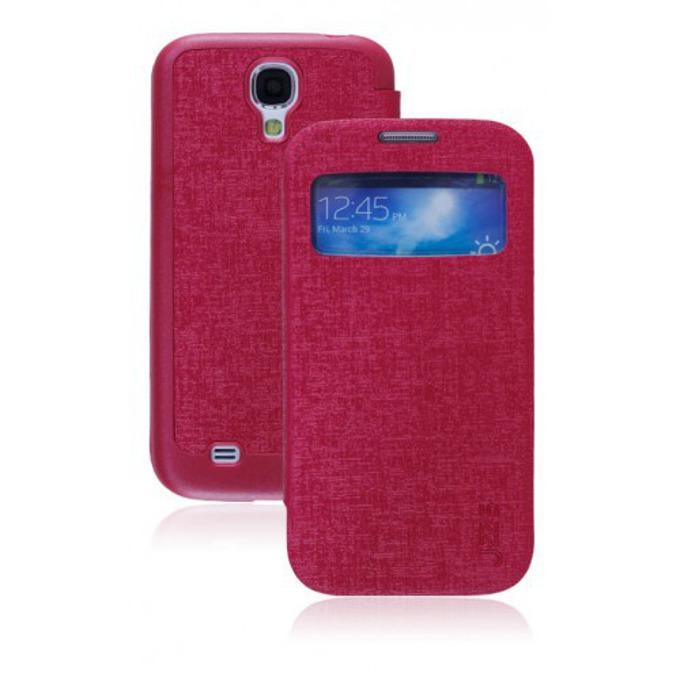 Калъф за Samsung SIV mini, отваряем с прозорец, еко кожа, Vollter, цикламен image