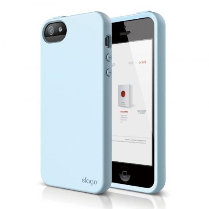 Силиконов протектор Elago S5 Flex Case + HD Clear Film за iPhone 5, iPhone 5S, светлозелен, HD покритие image