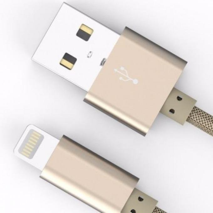 Кабел DigitalOne SP00064, от USB A(м) към Lightning, 1.5m, бежов image