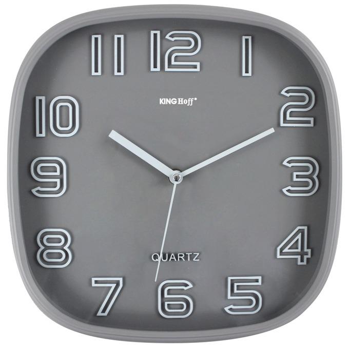 Часовник KingHoff KH-1018, аналогово указание, сив image