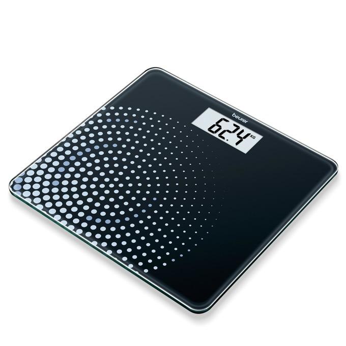 Цифров кантар Beurer GS210, капацитет до 180 кг., автоматично вкл/изкл., LCD дисплей, компактен дизайн, черен image