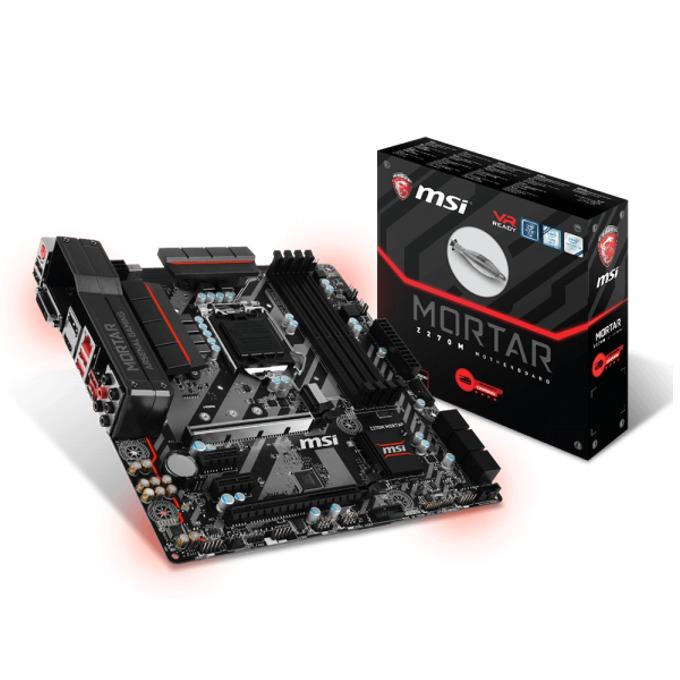 Дънна платка MSI Z270M MORTAR, Z270, LGA1151, DDR4, PCI-E(DP&HDMI)(CF), 6x SATA 6Gb/s, 3x USB 3.1 Gen1, 1x USB 3.1 Type C Gen1, 1x M.2 Slot, подсветка Mystic Light, Micro-ATX image