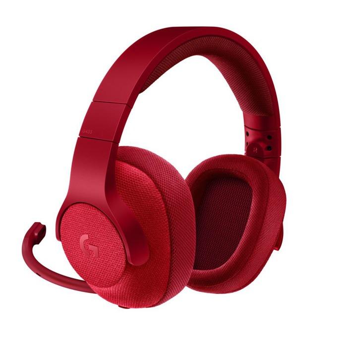 Слушалки Logitech G433 (нарушена опаковка), микрофон, гейминг, 2m кабел, червени image