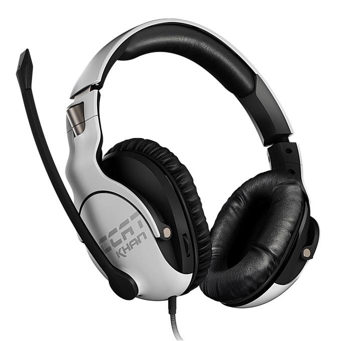 Слушалки Roccat Khan Pro, микрофон, честотен диапазон 10Hz-40kHz, бели image