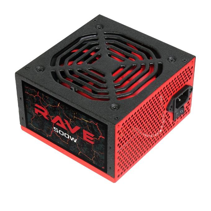 Захранване AeroCool Rave, 500W, Active PFC, 80 Plus, 120mm вентилатор image