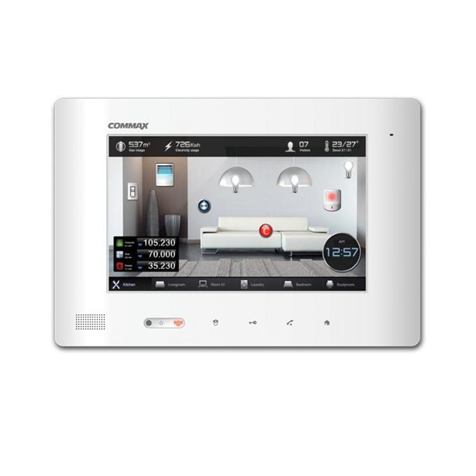 """Видеодомофон Commax CDP-1020IB, цветен, 10.1"""" (25.65 cm) TFT LED сензорен дисплей, телефония, функция """"грижа за здравето"""", EMS система, 256MB RAM image"""