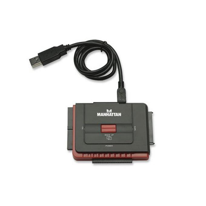 """Конвертор MANHATTAN 179195 за дискове до 5.25"""", USB 2.0 към IDE & SATA image"""
