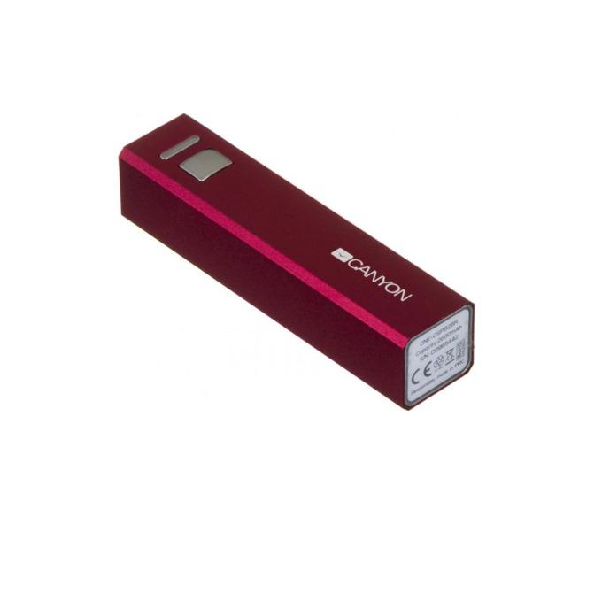 Външна батерия /power bank/ Canyon CNE-CSPB26R, 2600 mAh, червен image