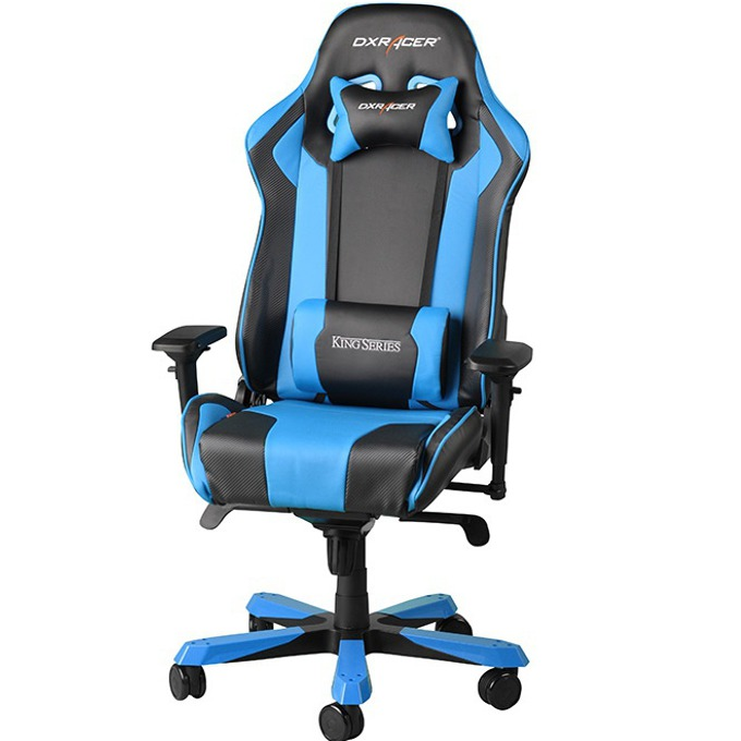 Геймърски стол DXRacer King OH/KF06/NB, черен/син image