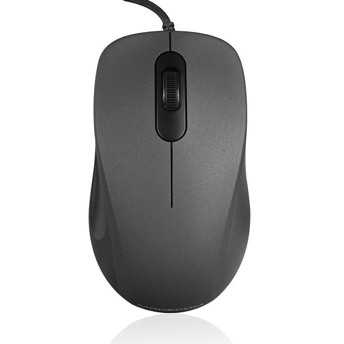 Мишка Modecom MC-M10S, оптична (1000 dpi), USB, 1.5m кабел, сива image