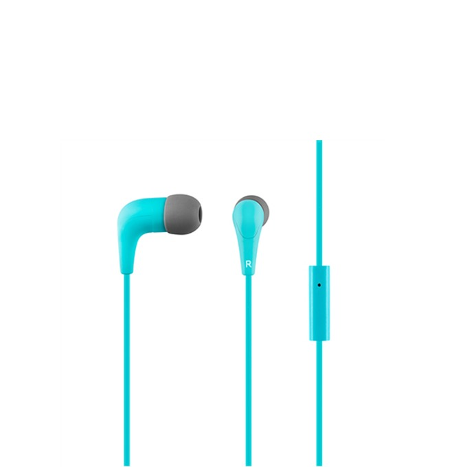 """Слушалки Acme HE15B, тип """"тапи"""", микрофон, 20 Hz – 20 kHz, 1.30m кабел, позлатен конектор, сини image"""