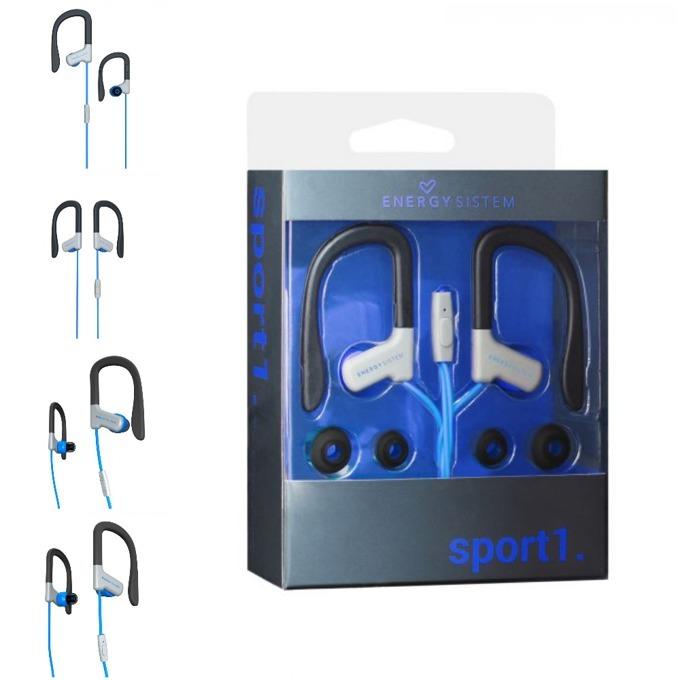 Слушалки Energy Sistem Earphones Sport 1, микрофон, сини image